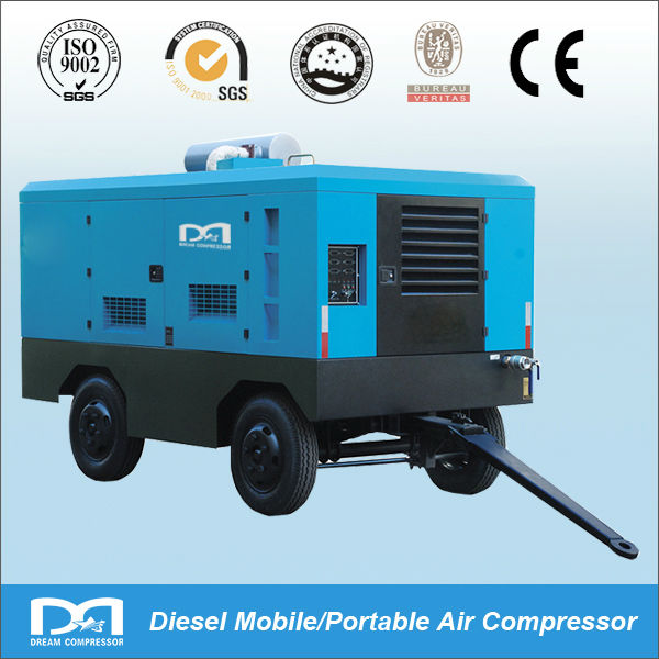 110KW portable Mobile diesel rotary Screw type Air Compressor for spray painting