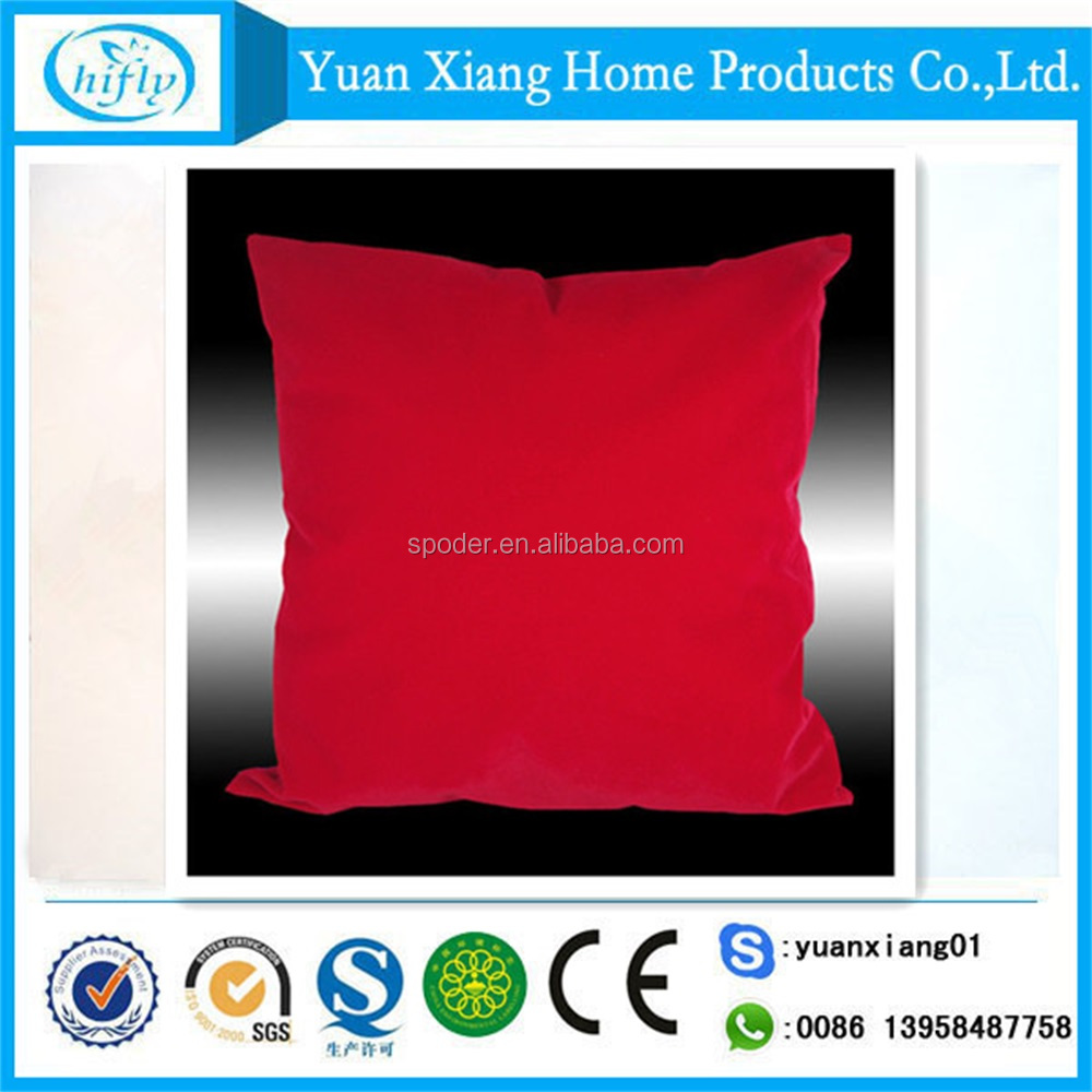 High quality plain color fleece super soft pillow for home