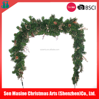 2016 high quality pvc Artificial pre lit christmas garland