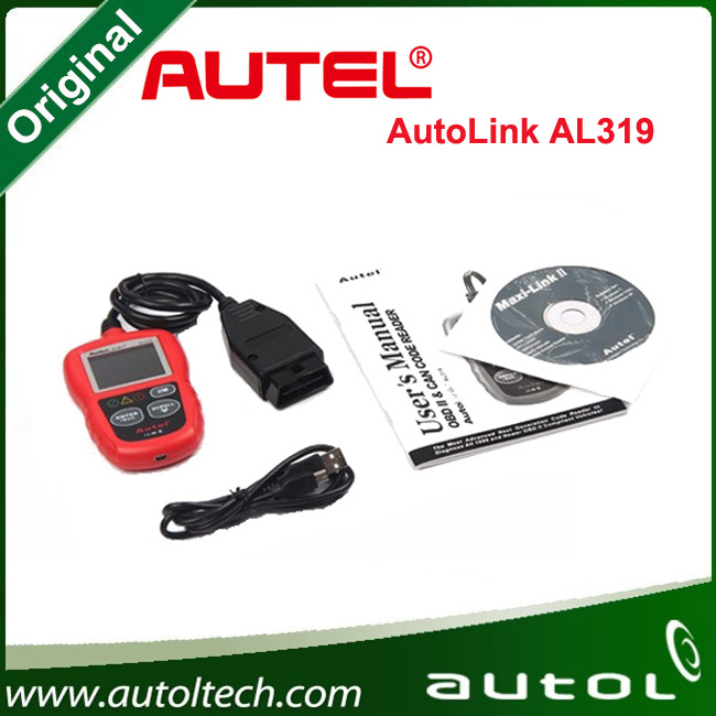 2016 Newest Software autel autolink code reader al319 al 319 code scanner support English, Espanol,Francais