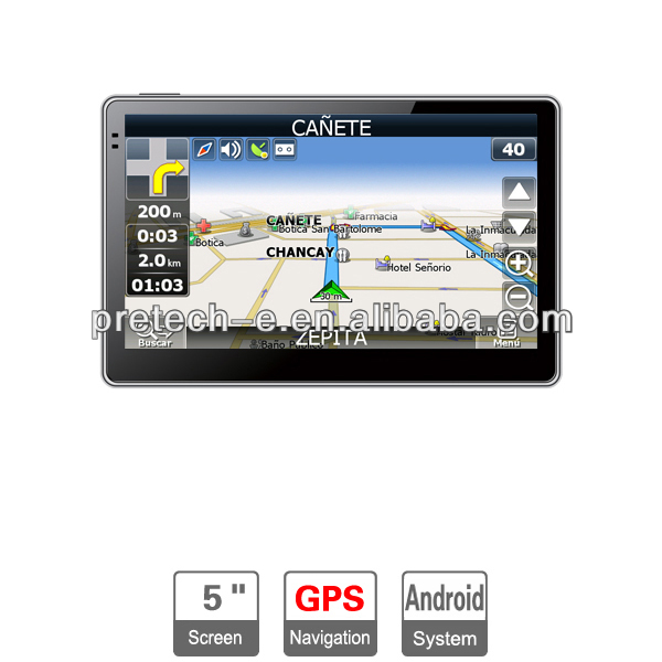 5 inch GPS Navigator Capacitive screen Android GPS