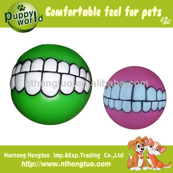 chewing and funny pet latex dog toy with squeaker