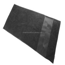 Black color Customized good quality Sports fitness towel cotton gym towel sports rally towel