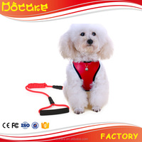 Dirt-Proof PU Dog Harness With Strong Leash Rope