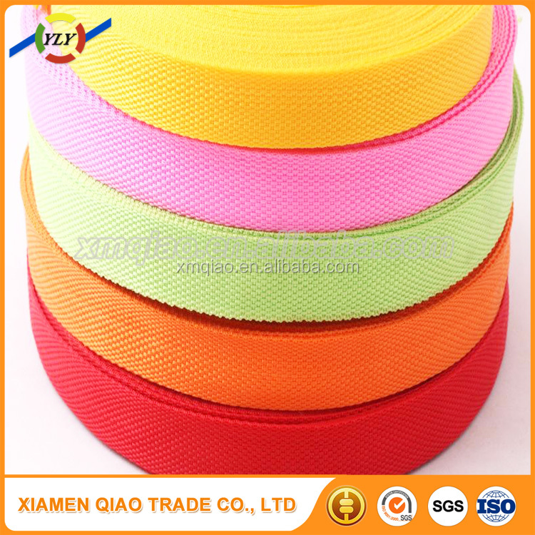 Hot sale polyester 20mm cheap nylon bags webbing for safety belt
