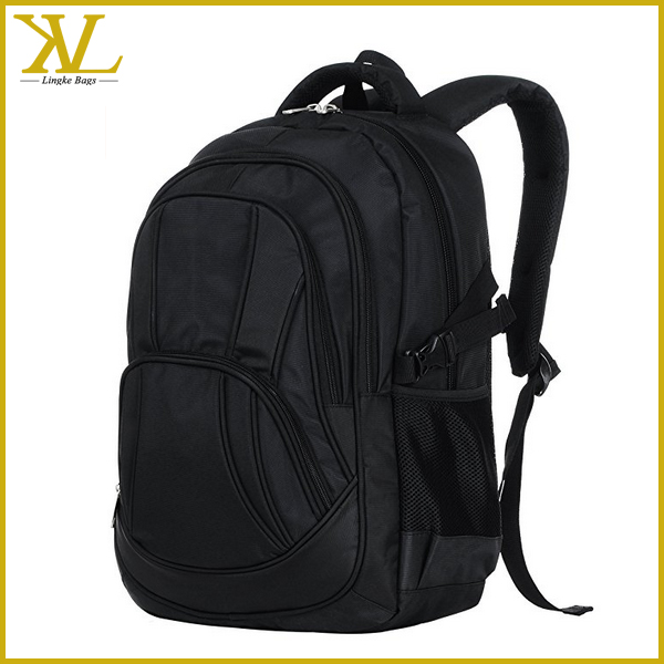 2017 New Design Black Waterproof Laptop Bag Computer Backpack For Men