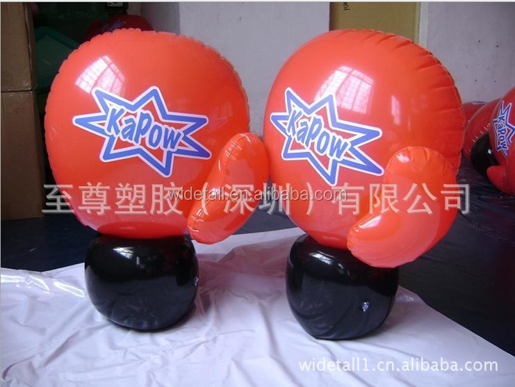 cheap inflatable boxing glove / pvc hand party item / high quality inflatable hand toys