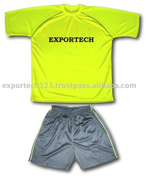 Yellow Color Polyester Soccer uniform