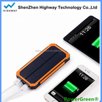 Hot Sell Portable Universal Charger Solar Cell Phone Power Bank For Camping Hiking