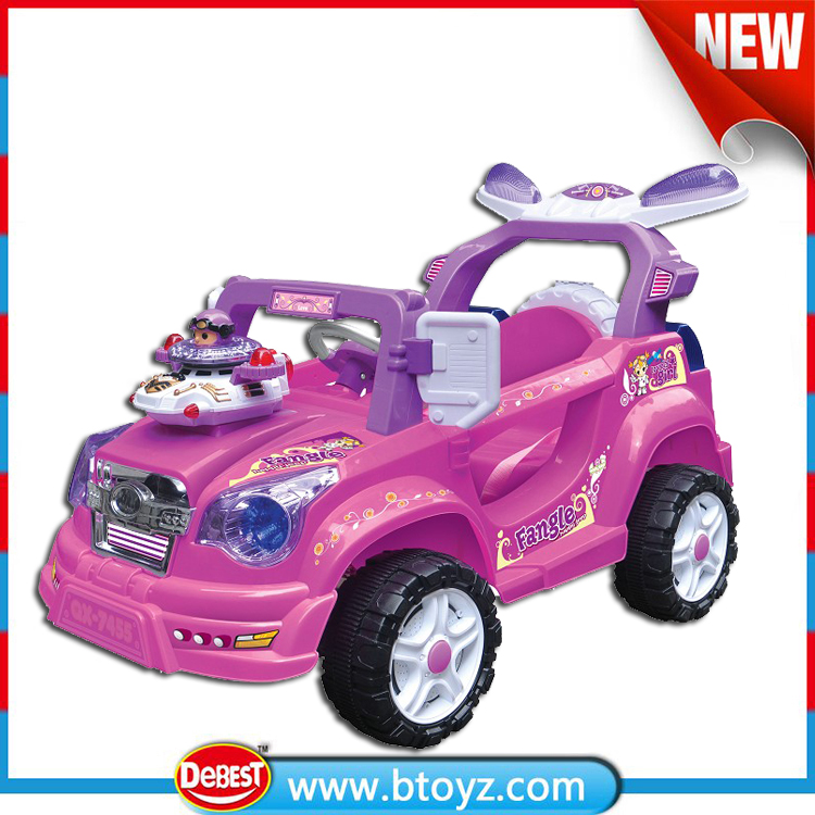 New Style Radio Control Pink Automatic Baby Battery Car