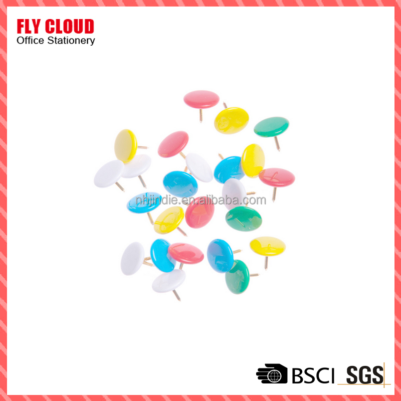 color plastic cloated thumb tack