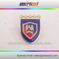 3D customize metal lapel pins, custom high quality soft enamel and gold plated pin badges