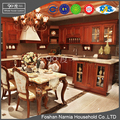 European style luxurious customized solid wood kitchen cabinet