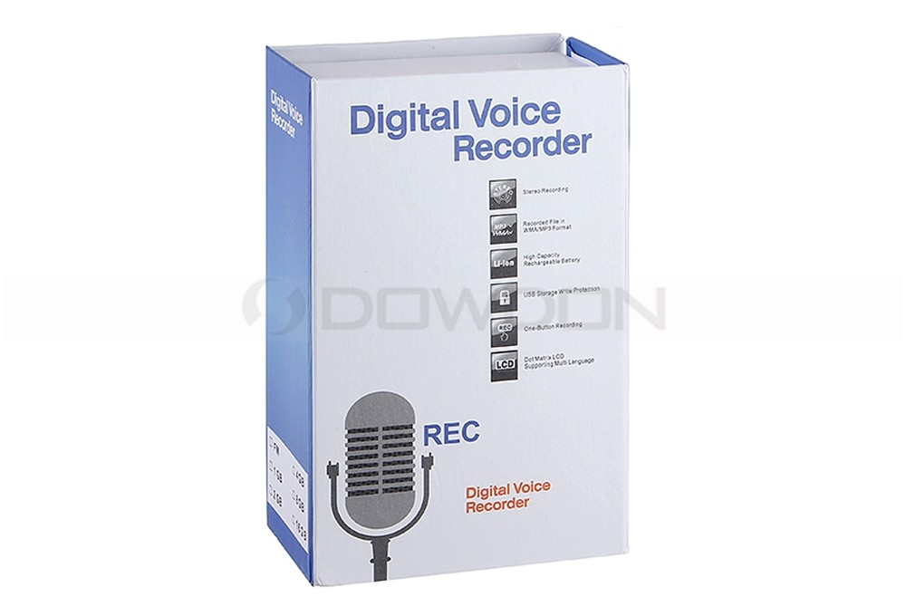 WMA/MP3 Format Recording Pen 32GB External Storage Rechargeable USB Voice Recorder
