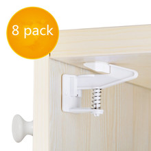 Private Label Easy Install No Tools Drilling Baby Safety Magnetic Cabinet Locks Drawer Door Locks