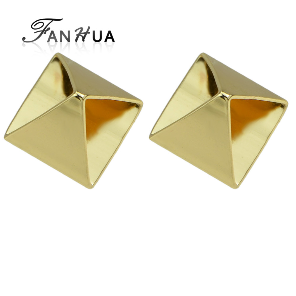 Punk Rock Metal Geometric Small Stud <strong>Earrings</strong> for Ladies