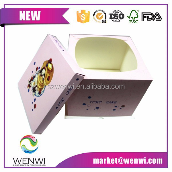 2015 New custom made wedding cake boxes/paper cake box/cake box