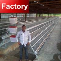 Automatic manure cleaning chicken breeding cage for poultry farm
