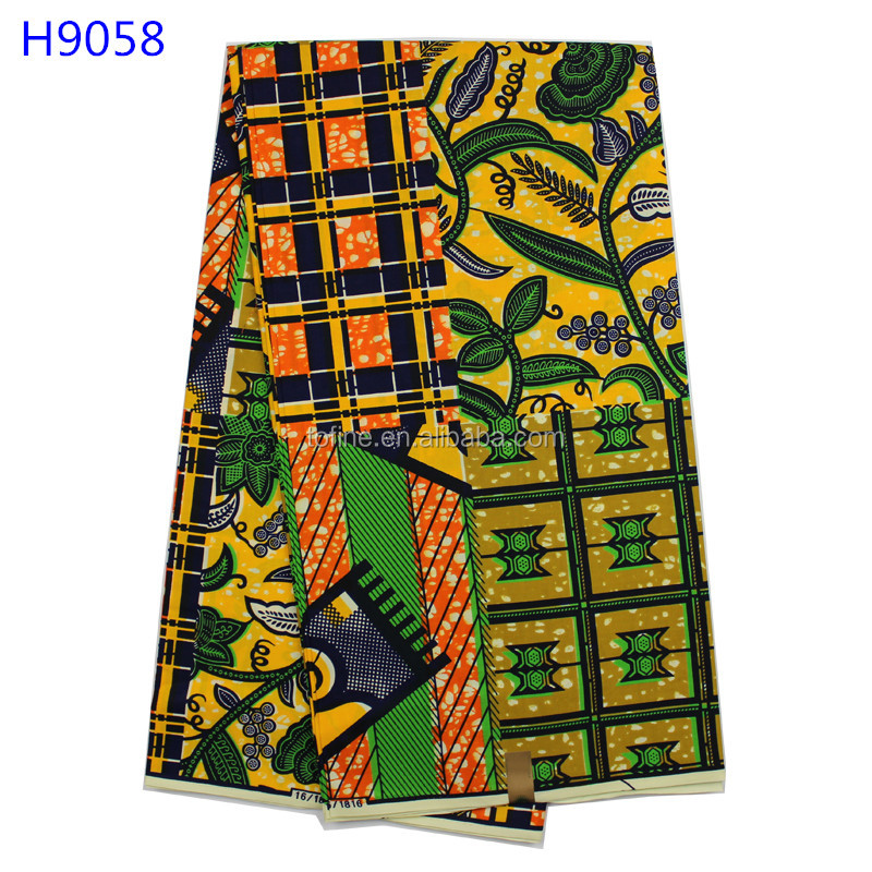 Good selling African Veritable wax Super Wax Hollandais Prints 100% Cotton 6 Yards/Lot