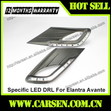 Wholesale -8 LEDs- Car Specific LED DRL For Elantra Avante Daytime Running Light 2012