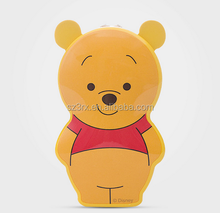 Custom design Cartoon yellow bear night torch light/cartoon animal shape led torch light/oem 3d led torch light for kids