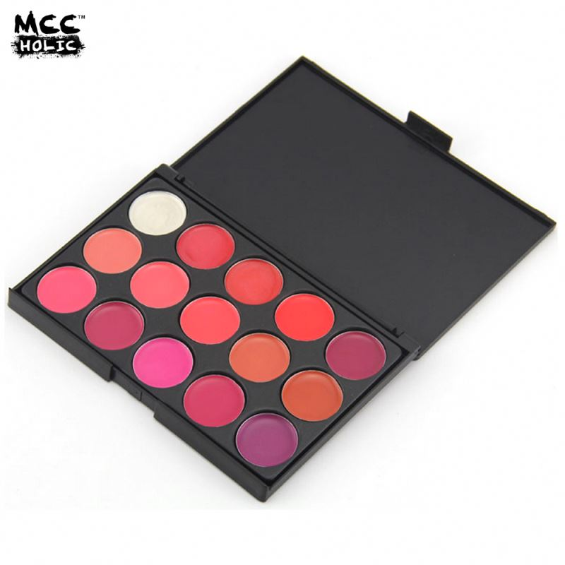 New coming long lasting 15 color lipstick palette made in china