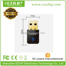 Best quality 802.11 n/g/b 300Mbps Mini driver-free wireless usb adapters with Realtek 8191CU Chipset EP-N1557