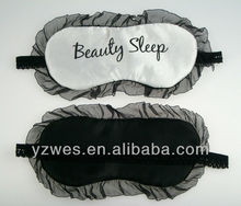 Cheap big lace stain printing logo sleeping eye mask
