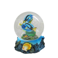 Glass Water Globe with Resin Fish Decoration