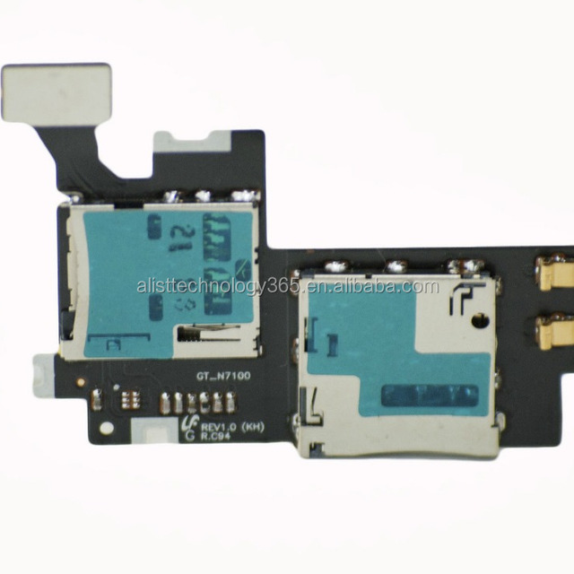 Replacement SIM Connector Holder Card flex Cable For Samsung Galaxy Note 2 II N7100