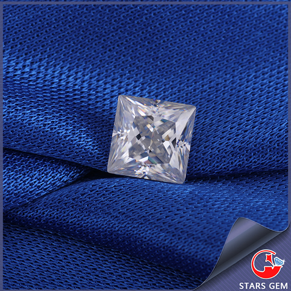 square pricess cut high grade quality China moissanite