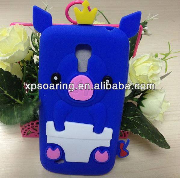 Cute pig soft case cover for Galaxy S4 mini i9190