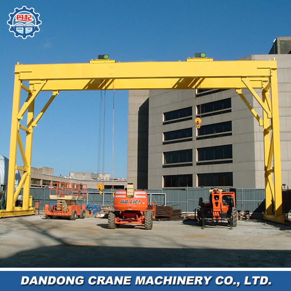machine assembly european style loading and unloading work CMAA long life span double beam gantry crane with hook