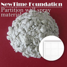 Fireproof insulation mineral wool sound absorbing spraying material