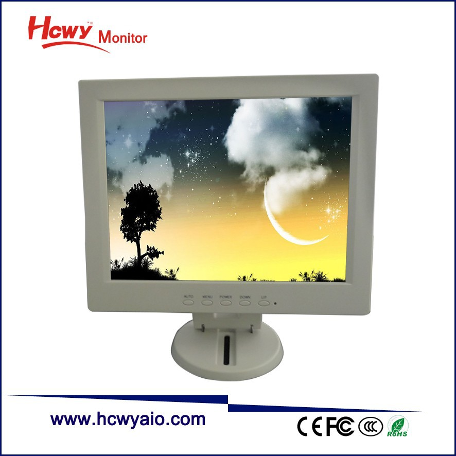 Wholesale 12 inch TFT LCD White Color VGA Monitor With 350 Nits