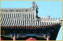 Chinese classical grey roof materials for antique style building