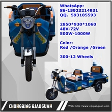 China Hot Sale double use Folding Electric Tricycle Three Wheel Motorcycle for Cargo or Passenger