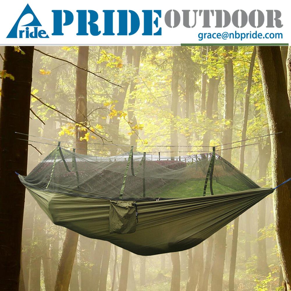 hot sale army green hanging sleeping hammock tree tent travel mosquito net hammock