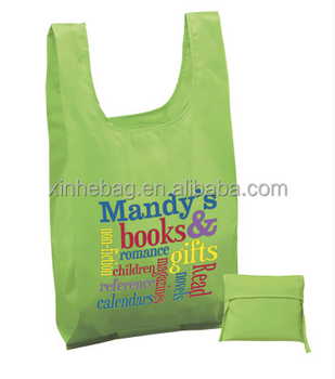 Poly T-shirt Cheap Promotional Bags & Full Color Imprint Wholesale Logo Tote Bags