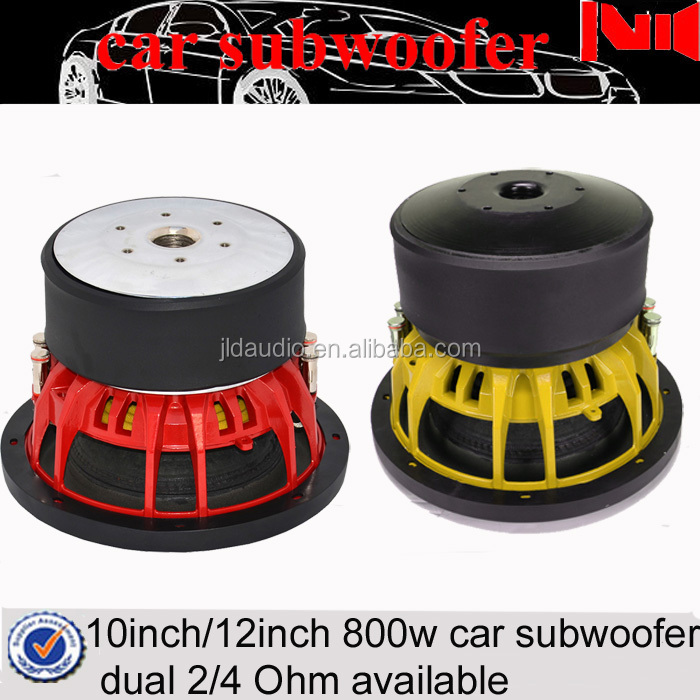 "10""/12"" speaker subwoofer with aluminum basket and 800w rms/1600w max power car audio subwoofer"