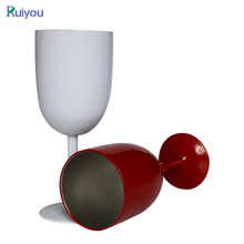 10oz Double Wall Stainless Steel Wine Cup Metal Wine Goblet, stainless steel wine cup ,wine tumbler with stem