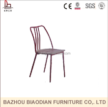 Italy style leisure metal chair design replica matel dining chair stackable restaurant coffee chair