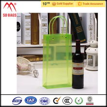 Fancy promotional pvc ice bag for wine,reusable pvc ice wine bag wholesale,wine bottle plastic cooler ice bag