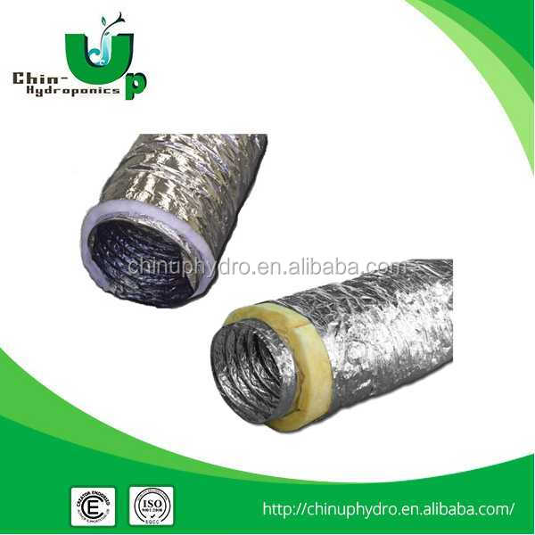 "air conditional aluminum flexible duct/Hydroponic 4""6""8""10""12"" flexible for plant growth/ ventilation system"