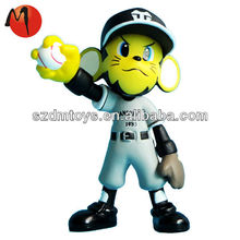 Custom novelty bobble head plastic baseball players 1/6 action figure