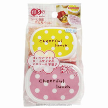 Easy to use distributors canada bento with multiple functions made in Japan / Mini Case Polka Dot (food sealed container)