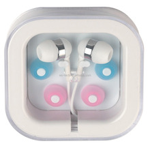 hot sale 2016 stereo white earphone in box , for high quality gifts