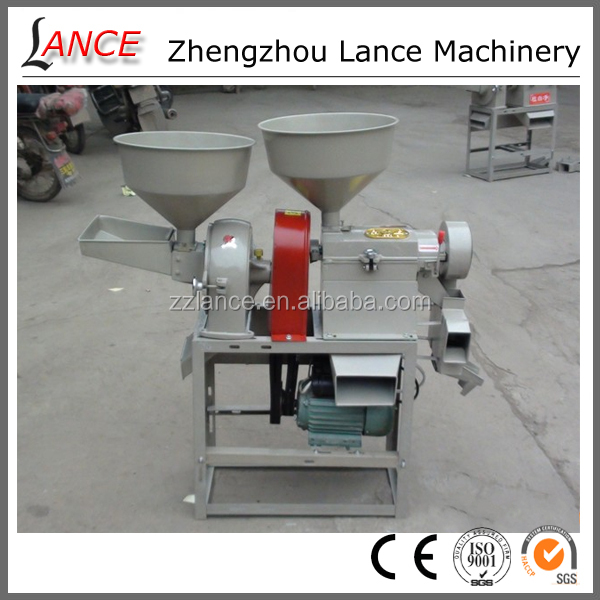 Hot sale farm/home use combined rice mill machine with video