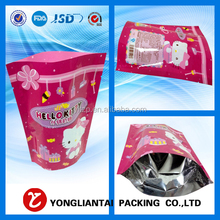 Accept Custom Laminated Material pet food stand up bag/zipper pouch/gusset bags