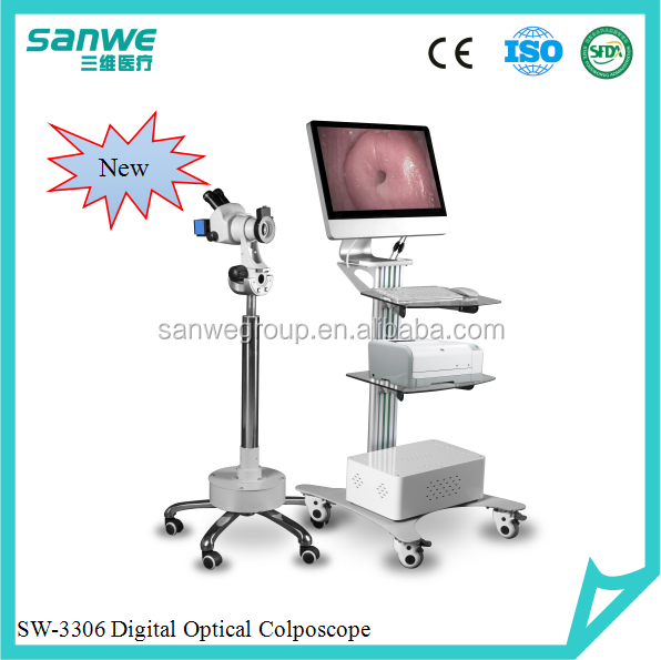 Sanwe New SW-3304 Digital Video Colposcope with 1200000 pixels camera, Video Colposcopy Imaging System